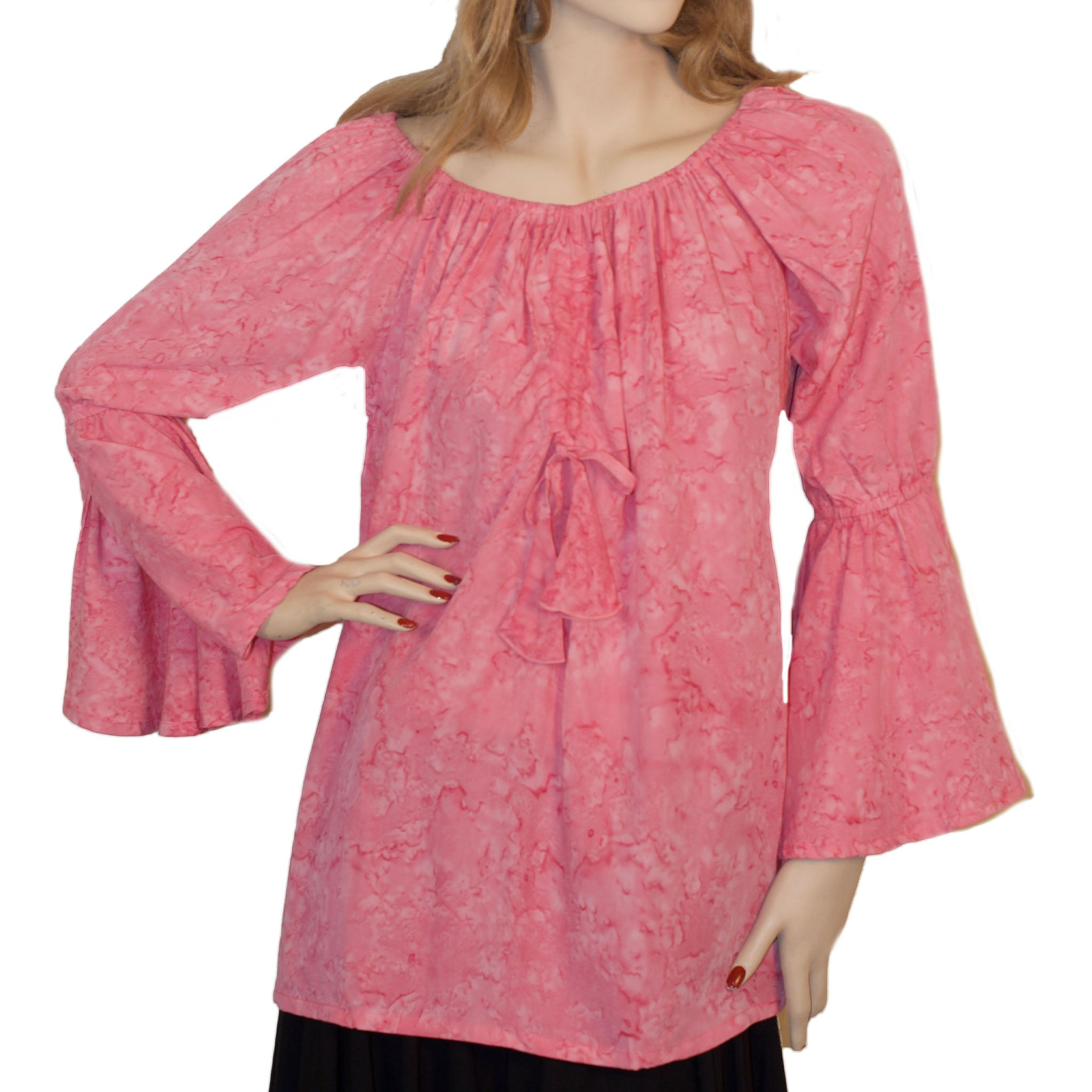 Womans Renaissance Top Pirate Top Pink
