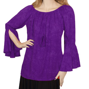 Womans Renaissance Top Pirate Top purple