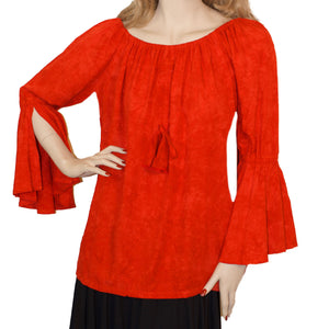 Womans Renaissance Top Pirate Top Red