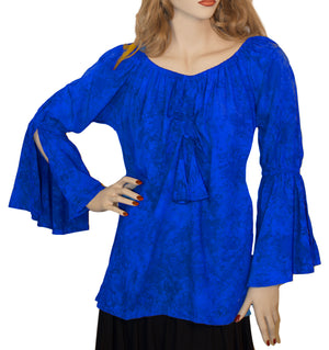 Womans Renaissance Top Pirate Top Blue