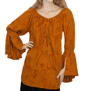 Womans Renaissance Top Pirate Top Saffron