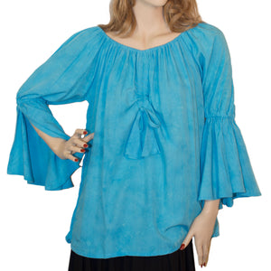 Womans Renaissance Top Pirate Top Turquoise