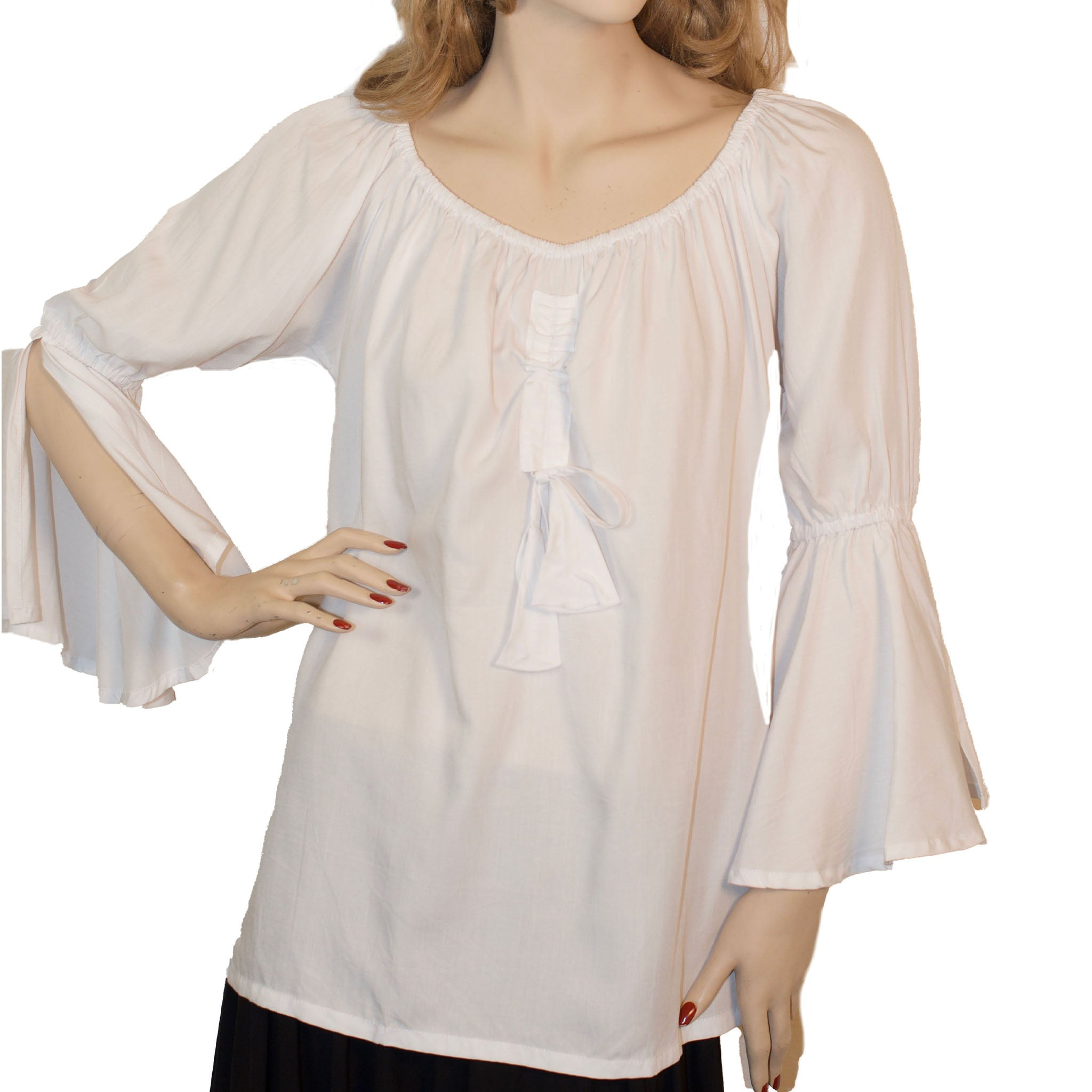 Womans Renaissance Top Pirate Top White