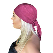Pirate bandana head scarf face mask Burgundy