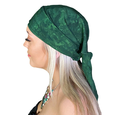 Pirate bandana head scarf face mask Green