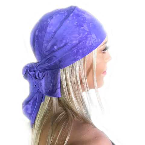 Pirate bandana head scarf face mask Lilac