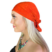 Pirate bandana head scarf face mask Orange