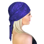 Pirate bandana head scarf face mask Purple