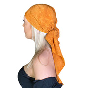 Pirate bandana head scarf face mask Saffron