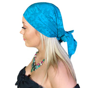 Pirate bandana head scarf face mask teal