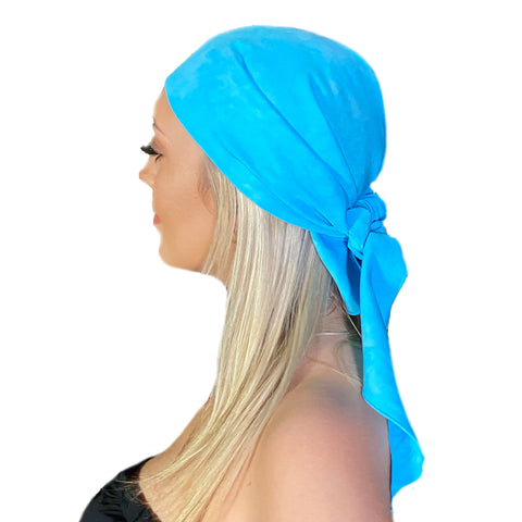 Pirate bandana head scarf face mask Turq