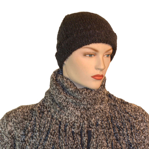 Beanie hat wool acrylic winter hat Black
