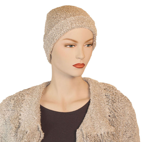 Beanie hat wool acrylic winter hat Cream