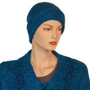 Beanie hat wool acrylic winter hat blue