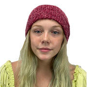 Beanie hat wool acrylic winter hat Rose