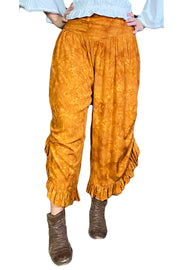 Renaissance pants with pockets Saffron