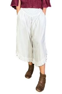Renaissance pants with pockets white