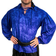 Mens Pirate shirt pirate top cotton pirate gear blue