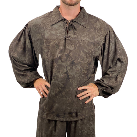 Mens Pirate shirt pirate top cotton pirate gear Brown