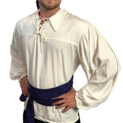 Mens Pirate shirt pirate top cotton pirate gear white