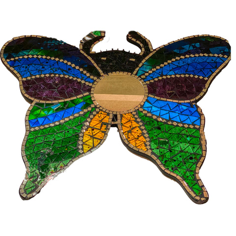Butterfly Mirror, Stained Glass Butterfly