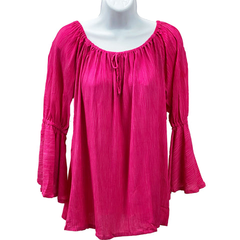Womans renaissance top renaissance blouse hot pink