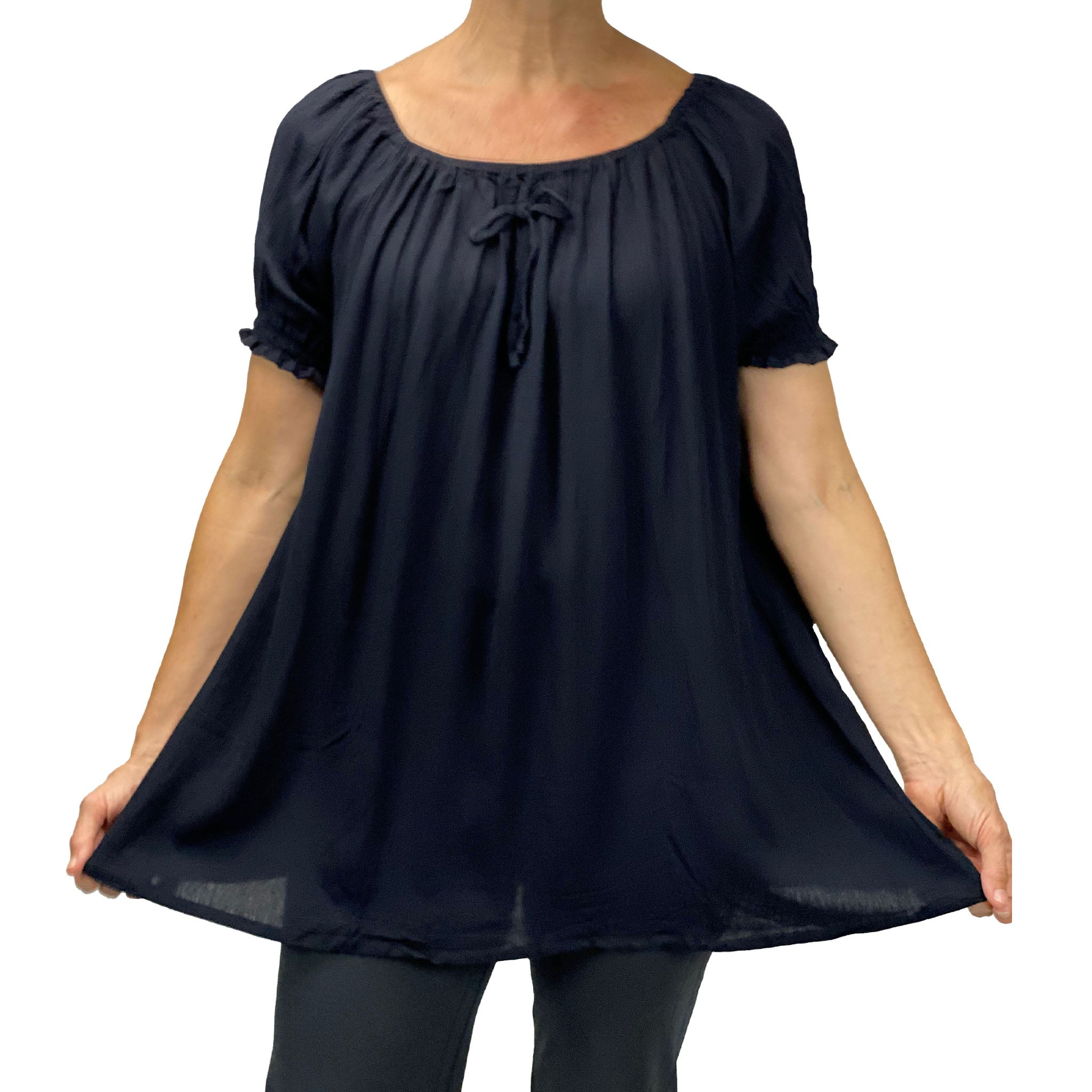 Womans renaissance top pirate blouse Black Front