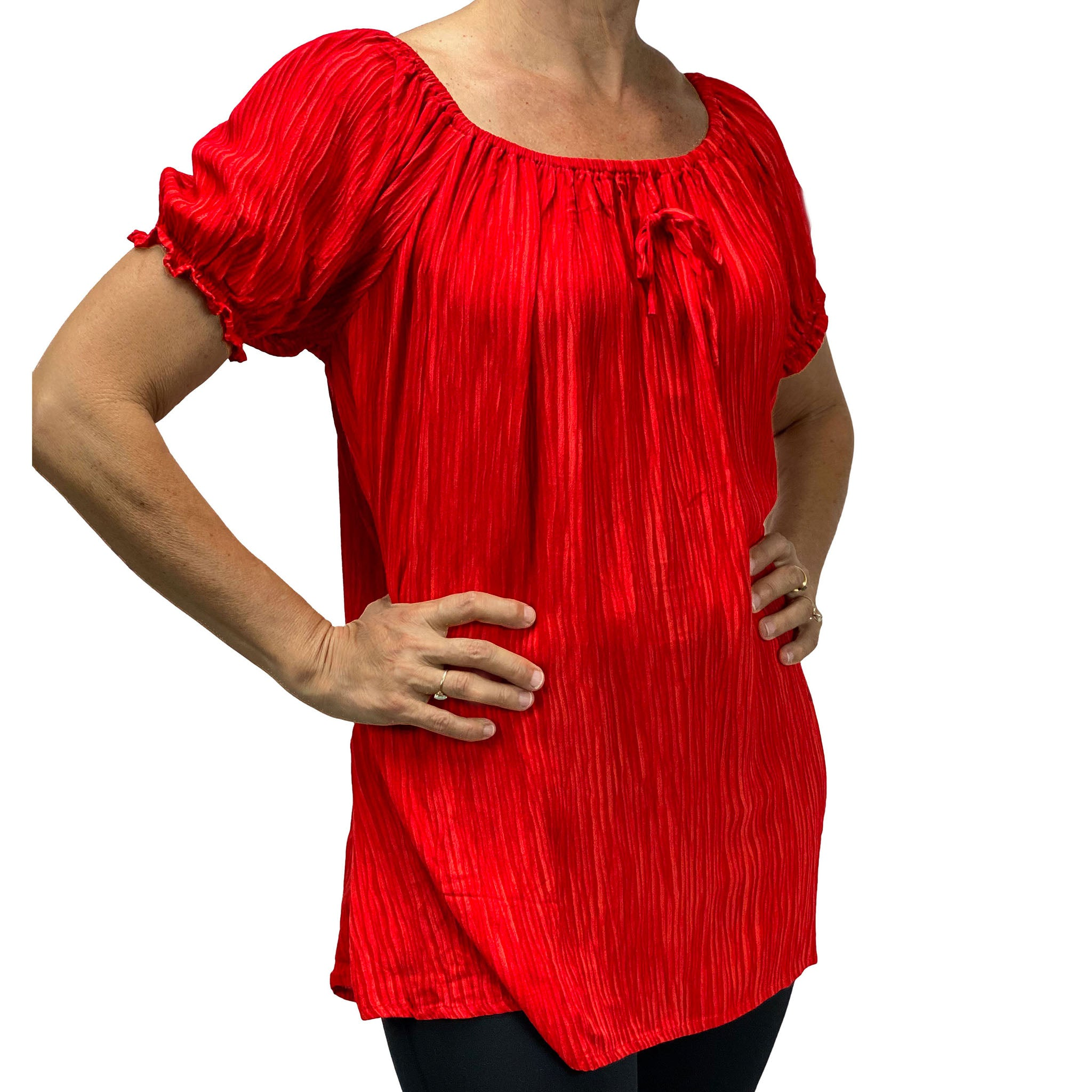 Womans Renaissance blouse pirate top bright red