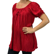 Womans Renaissance blouse pirate top Dark Red