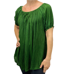 Womans renaissance top pirate blouse Green