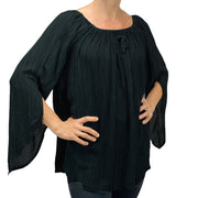 Womans renaissance top renaissance blouse black