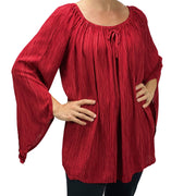Womans renaissance top renaissance blouse dark red