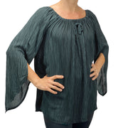 Womans renaissance top renaissance blouse Gray