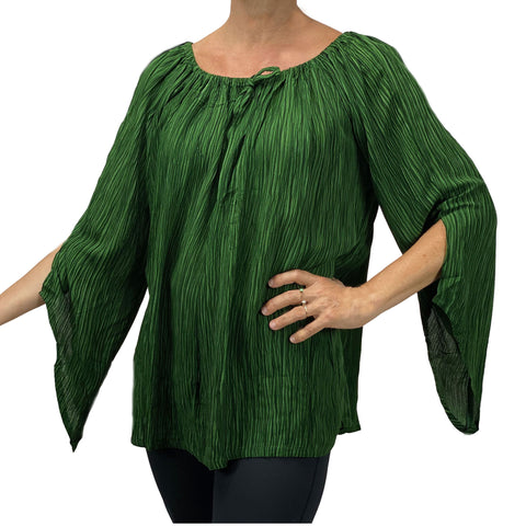 Womans renaissance top renaissance blouse Green