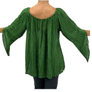 Womans renaissance top renaissance blouse back view