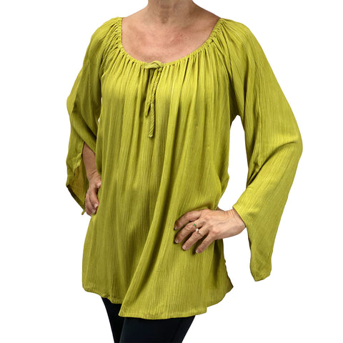 Womans renaissance top renaissance blouse lime
