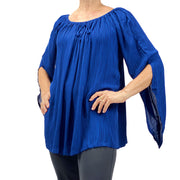 Womans renaissance top renaissance blouse Navy Blue