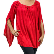 Womans renaissance top renaissance blouse red