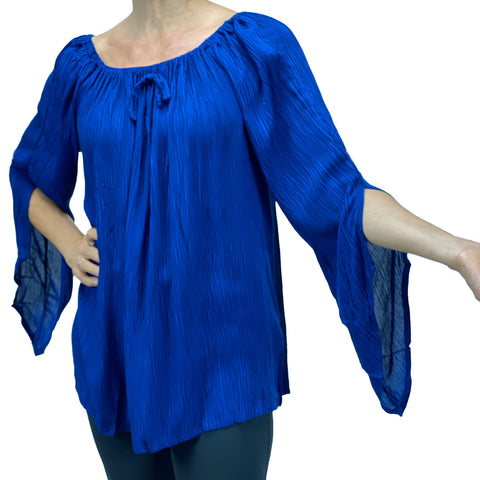 Womans renaissance top renaissance blouse Blue
