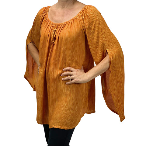 Womans renaissance top renaissance blouse saffron
