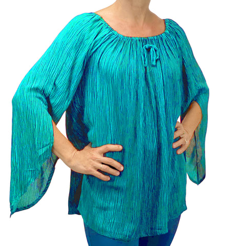 Womans renaissance top renaissance blouse teal