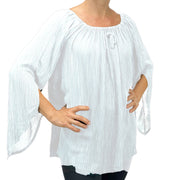 Womans renaissance top renaissance blouse White
