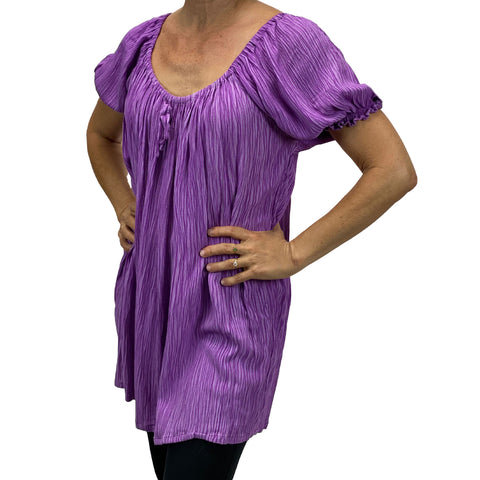 Womans Renaissance blouse pirate top lilac