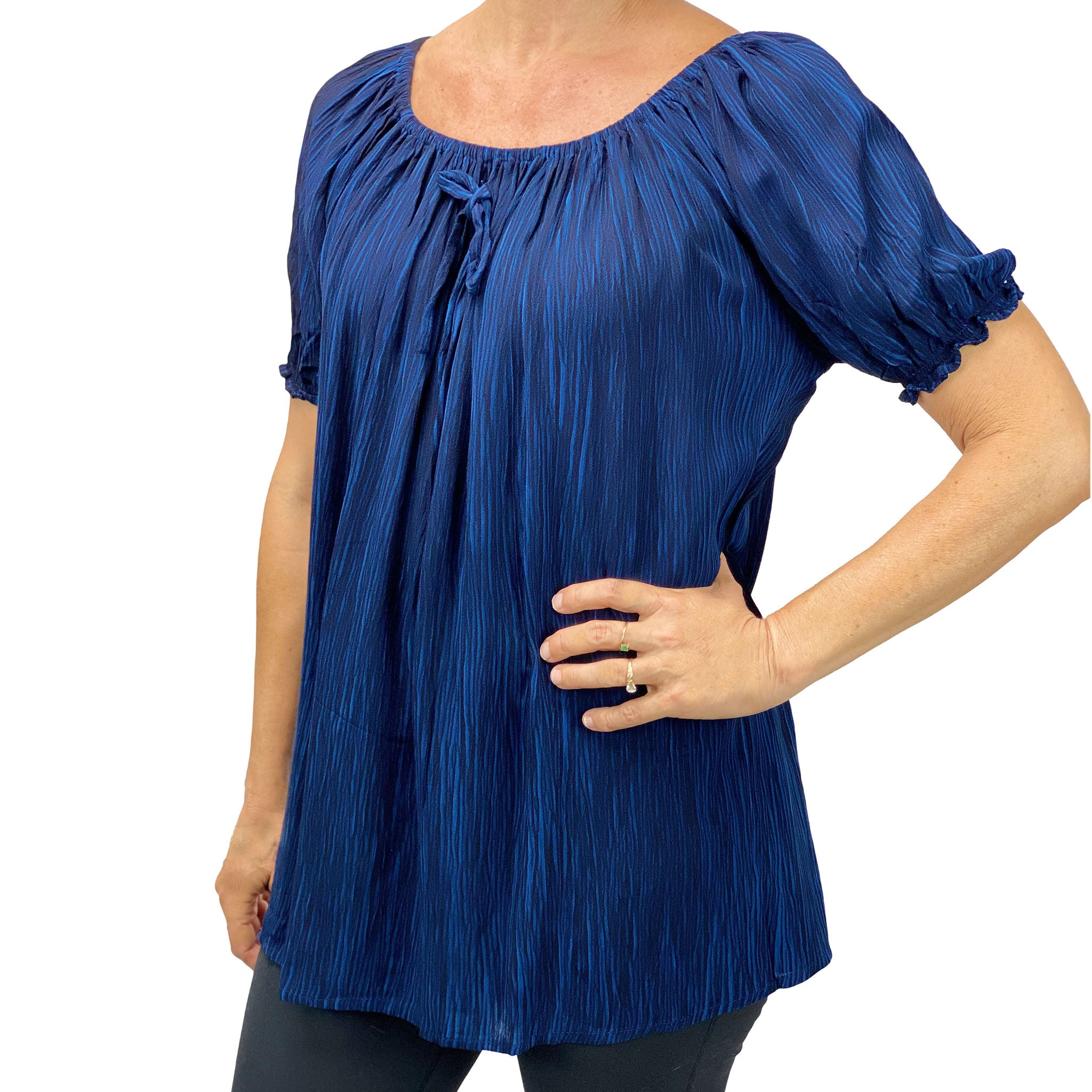 Womans renaissance top pirate blouse Navy