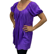 Womans Renaissance blouse pirate top Purple