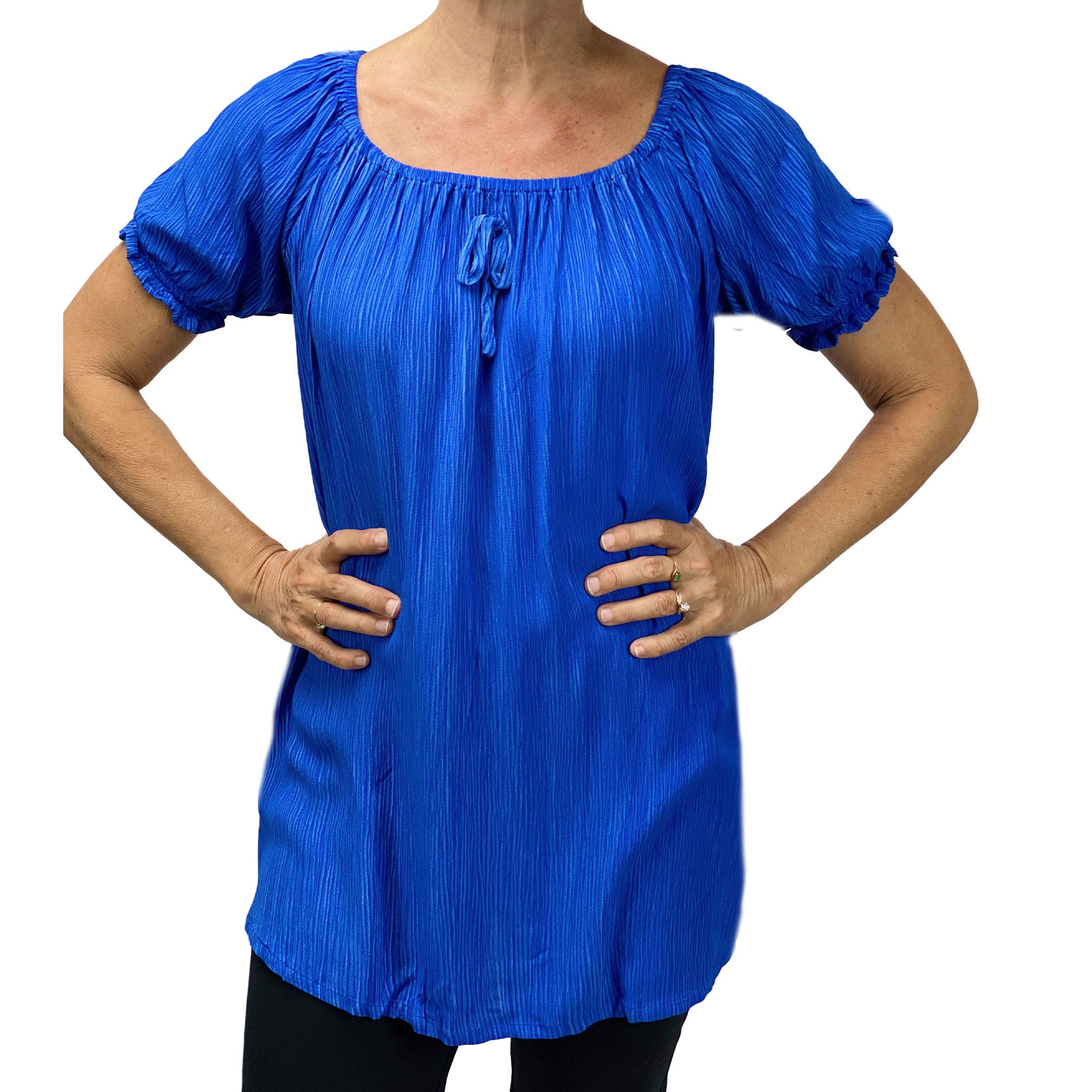 Womans renaissance top pirate blouse blue