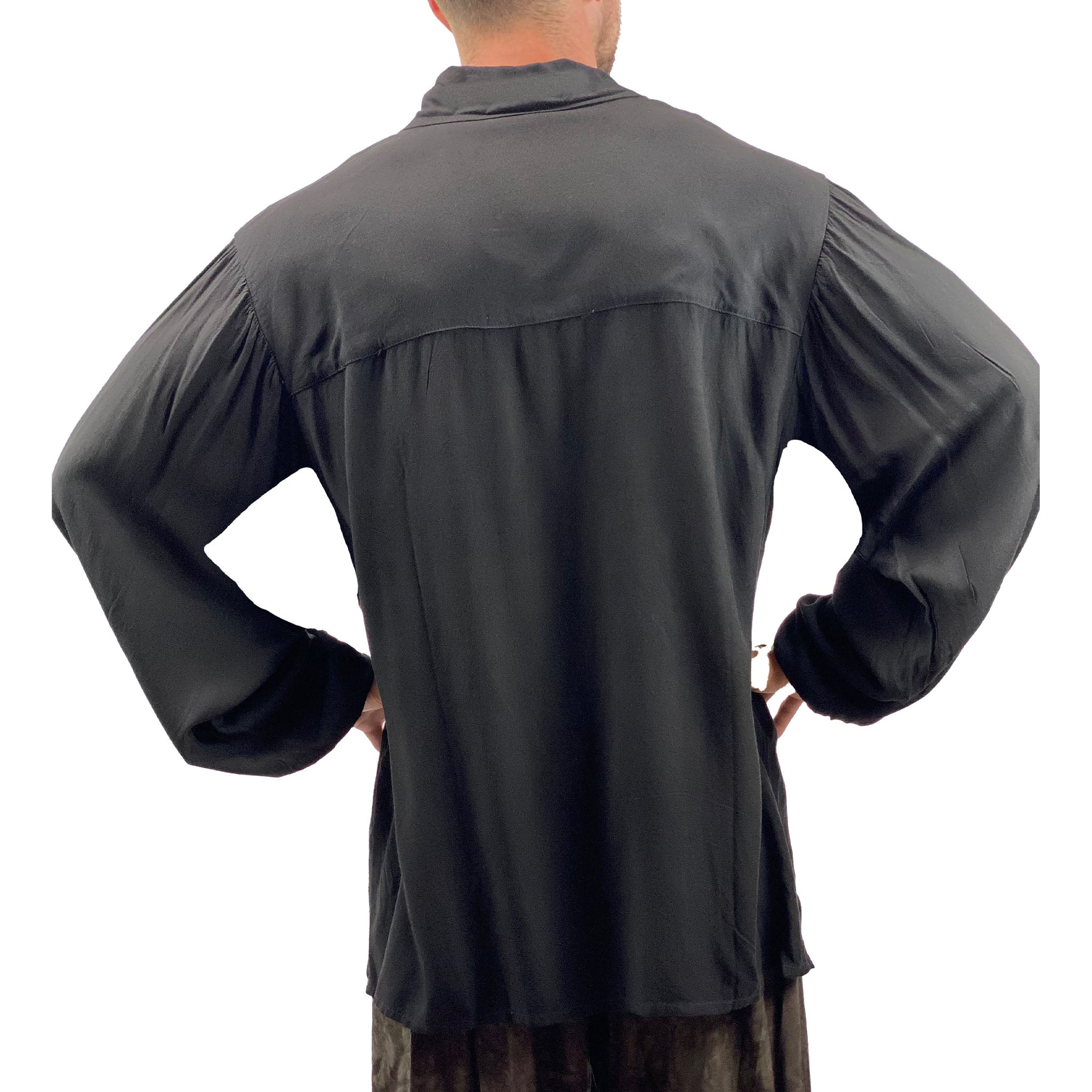 Mens Renaissance Shirt mens pirate shirt back view