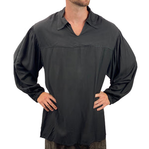 Mens Renaissance Shirt mens pirate shirt Black