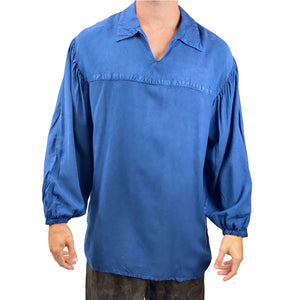 Mens Renaissance Shirt mens pirate shirt Blue
