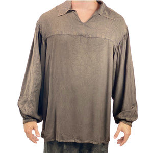 Mens Renaissance Shirt mens pirate shirt Brown